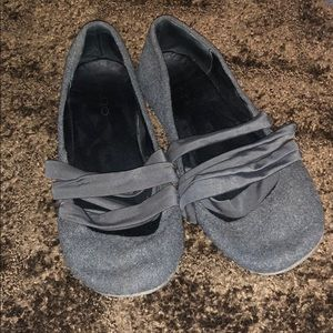 Grey Wool Aldo Ballerina Flats